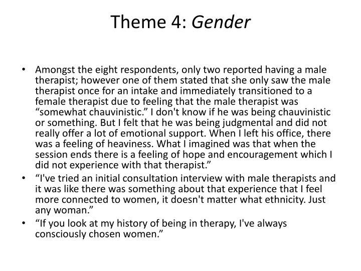 Theme 4: