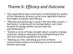 theme 6 efficacy and outcome