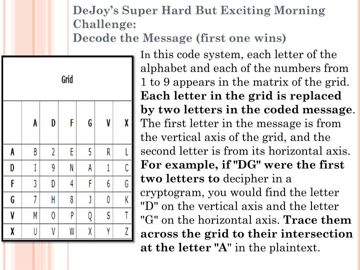 Dejoy s super hard but exciting morning challenge decode the message first one wins