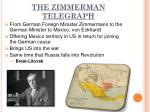 the zimmerman telegraph