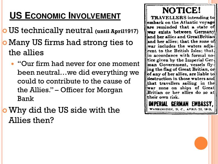 Us economic involvement