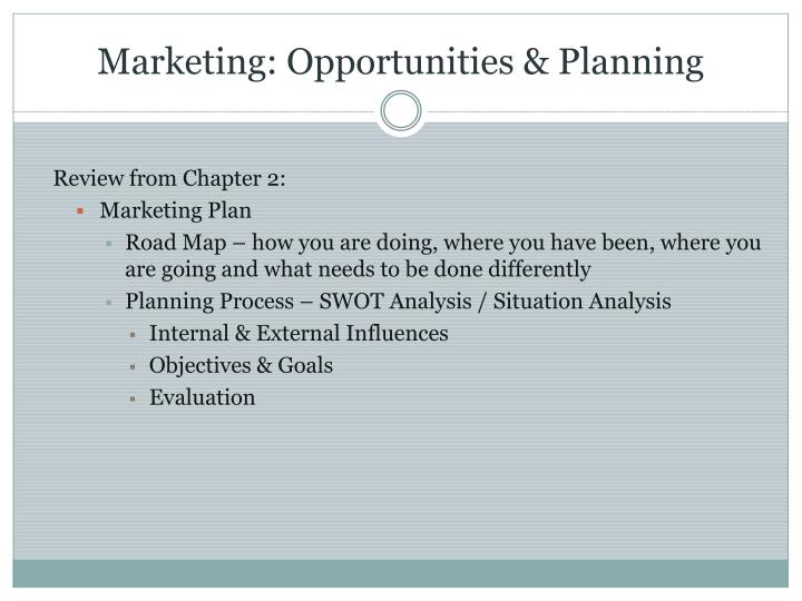 Marketing: Opportunities & Planning