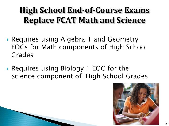 High School End-of-Course Exams Replace FCAT Math and Science