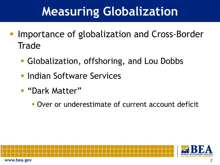 Measuring Globalization