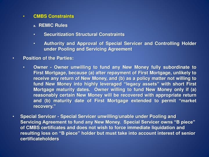 CMBS Constraints