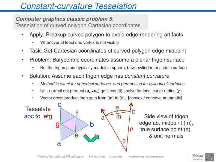 Constant-curvature Tesselation