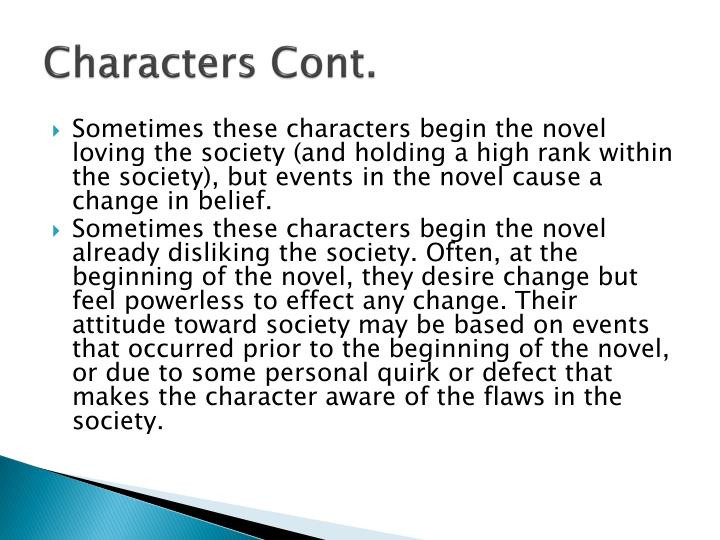 Characters Cont.