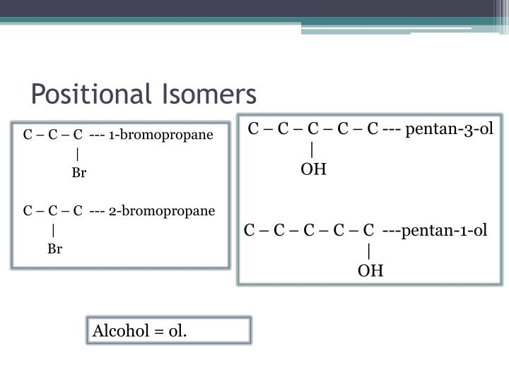 Positional Isomers