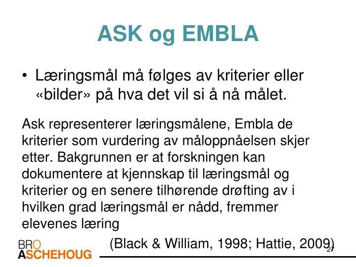 ASK og EMBLA