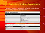 evaluating boolean expressions1