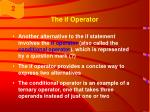 the if operator