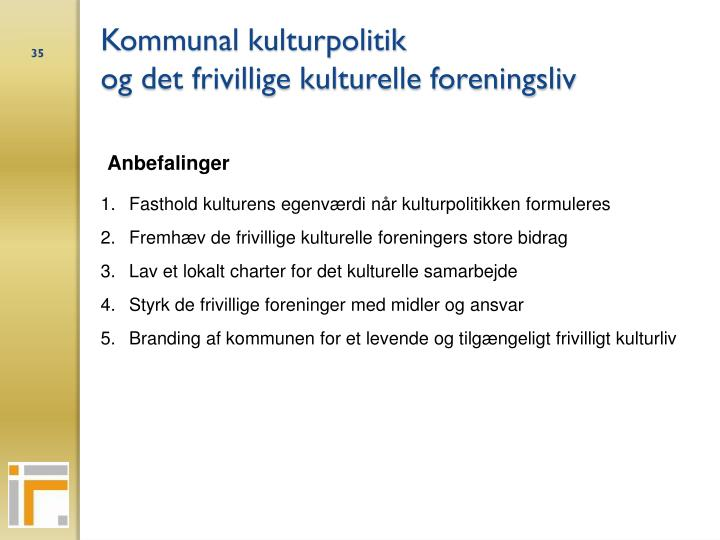Kommunal kulturpolitik