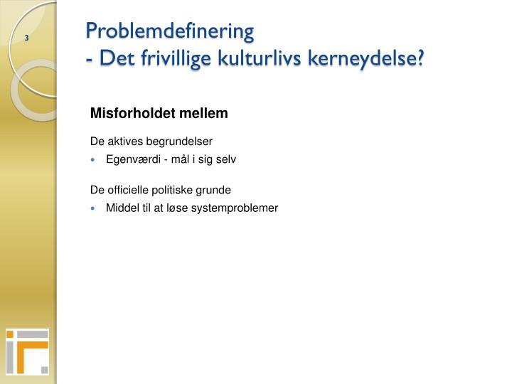 Problemdefinering