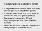 transpiration is a powerful force