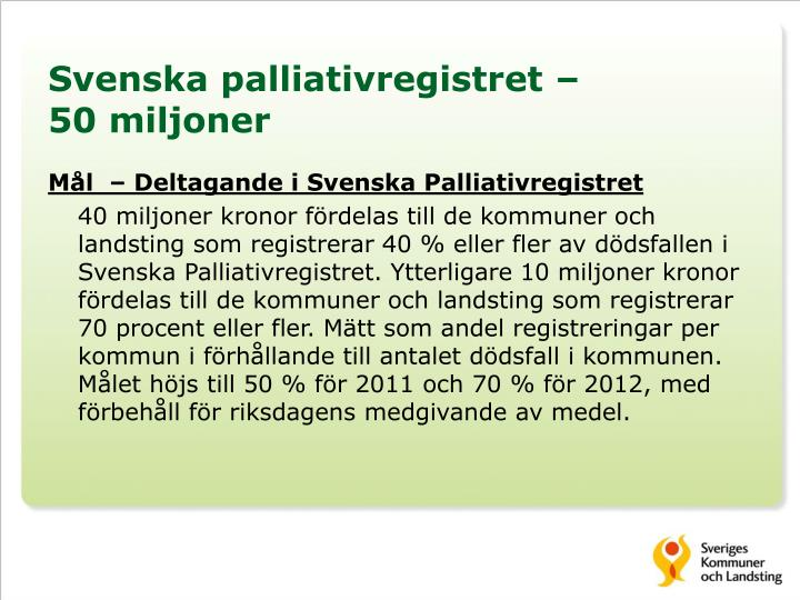 Svenska palliativregistret –