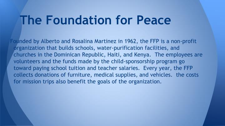 The Foundation for Peace
