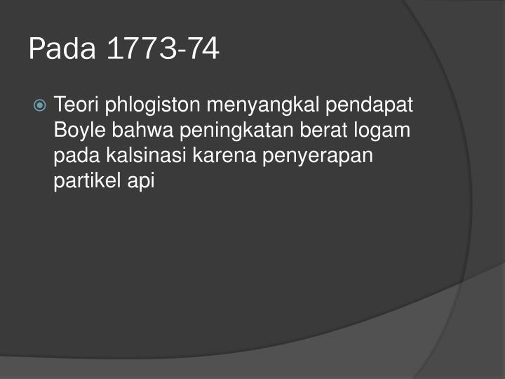 Pada 1773-74