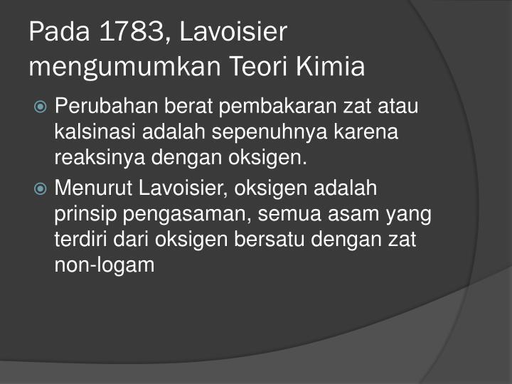 Pada 1783,