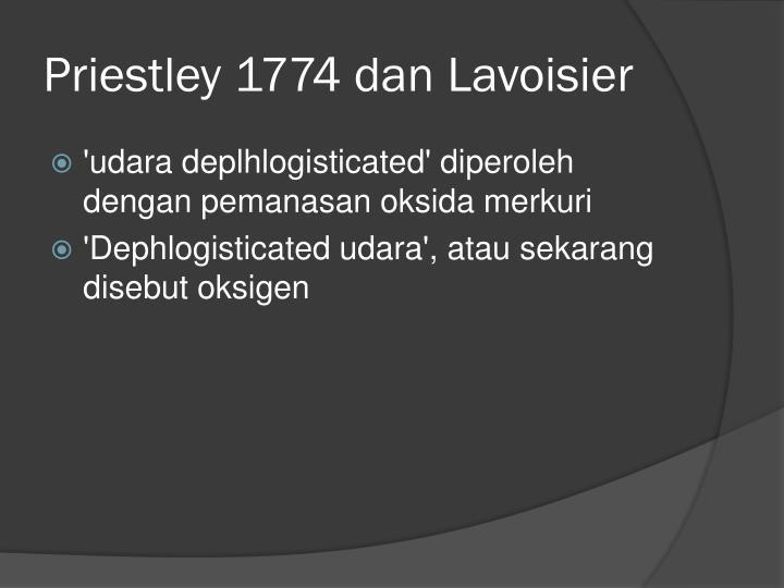 Priestley 1774 dan Lavoisier
