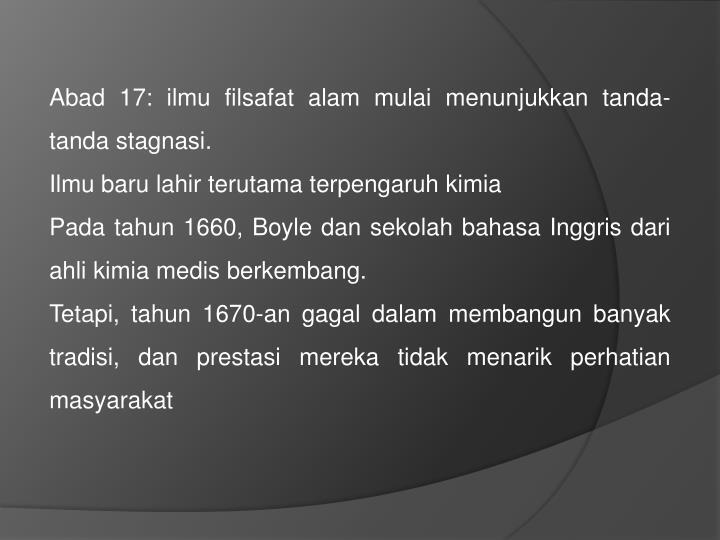 Abad 17:
