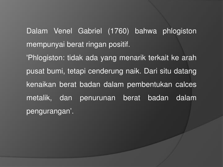 Dalam Venel Gabriel