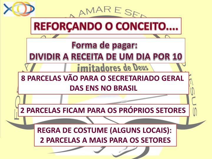 REFORÇANDO O CONCEITO....