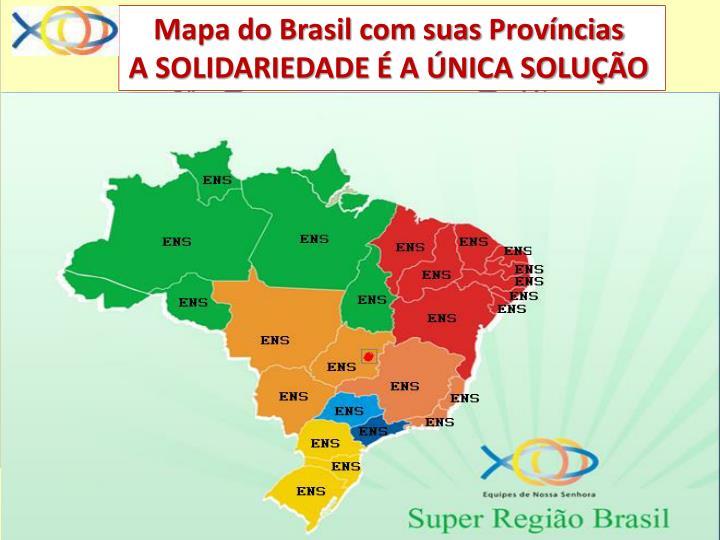 Mapa do Brasil com suas