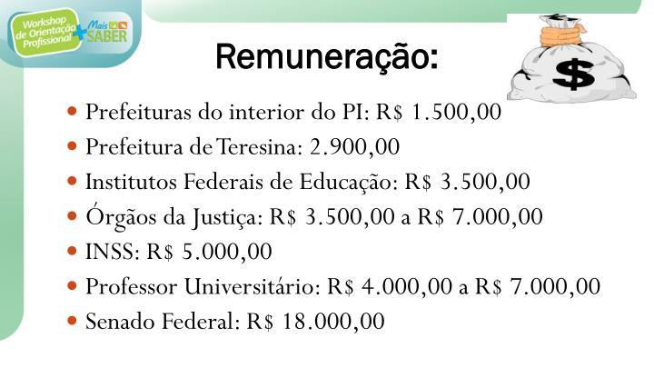 Remuneração:
