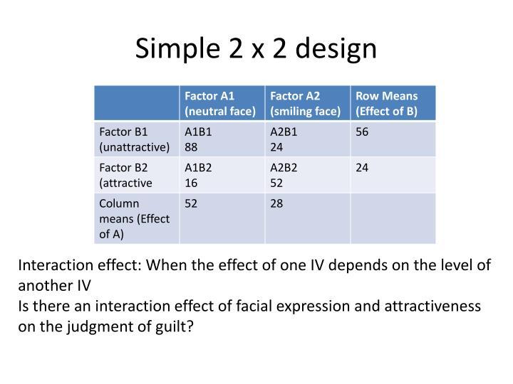 Simple 2 x 2 design