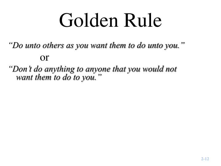 Golden Rule
