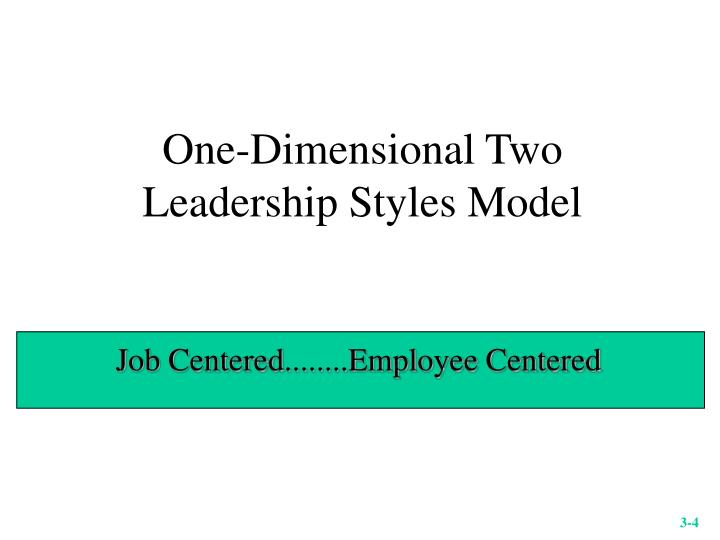 One-Dimensional Two Leadership Styles Model