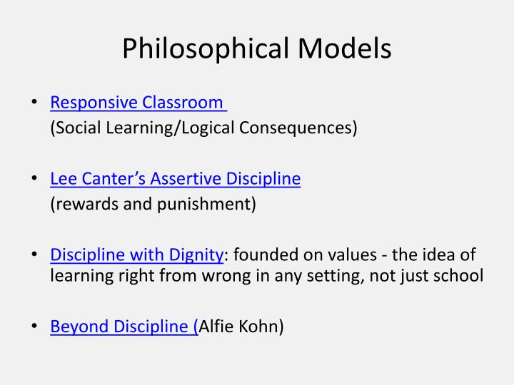 Philosophical Models