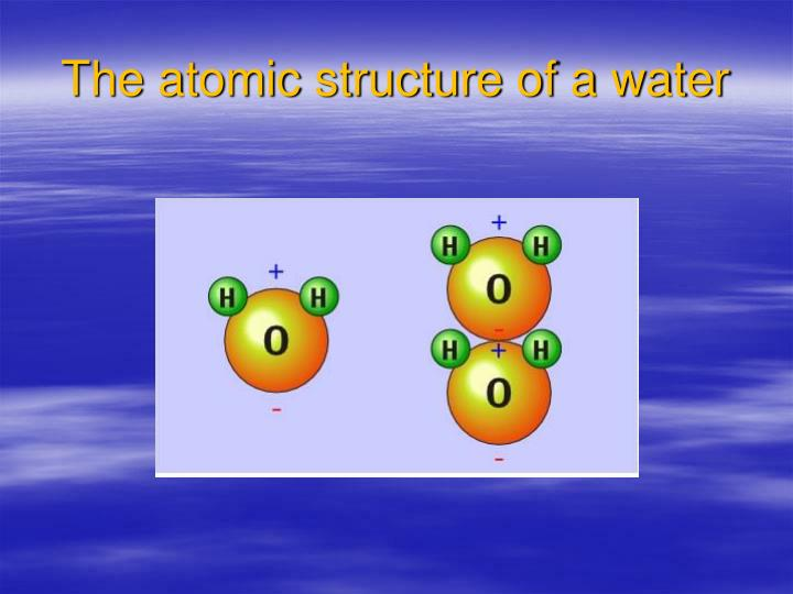 The atomic structure of a water