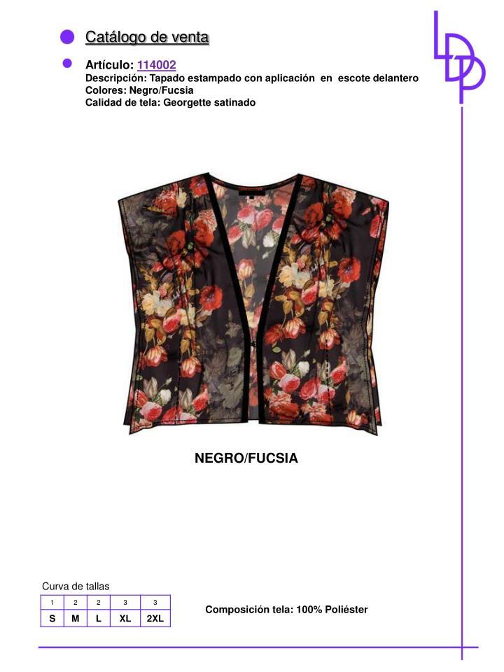 Catálogo de venta