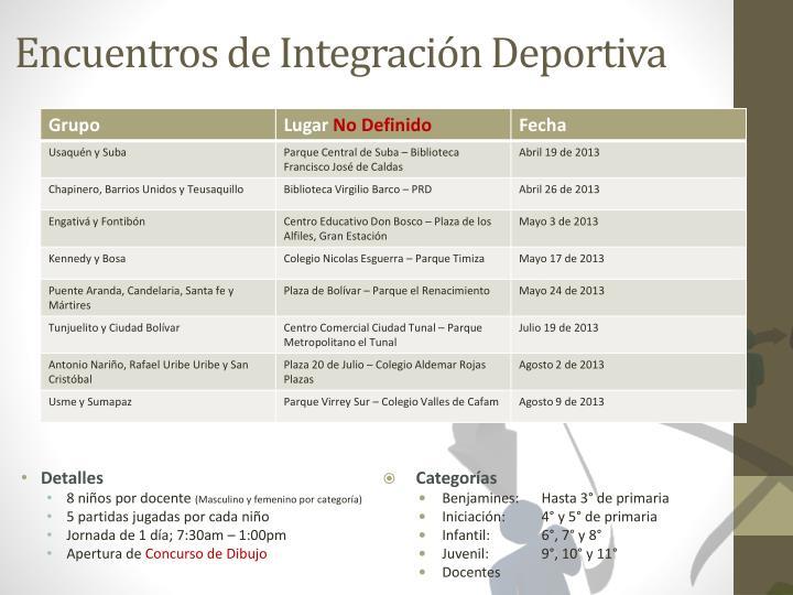 Encuentros de Integración Deportiva