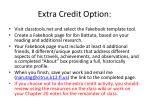 extra credit option