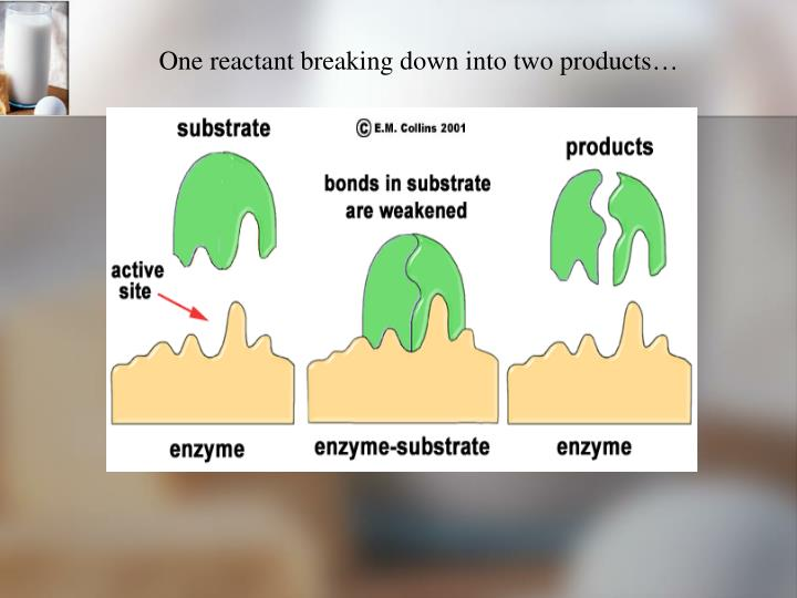 One reactant breaking down into two products…