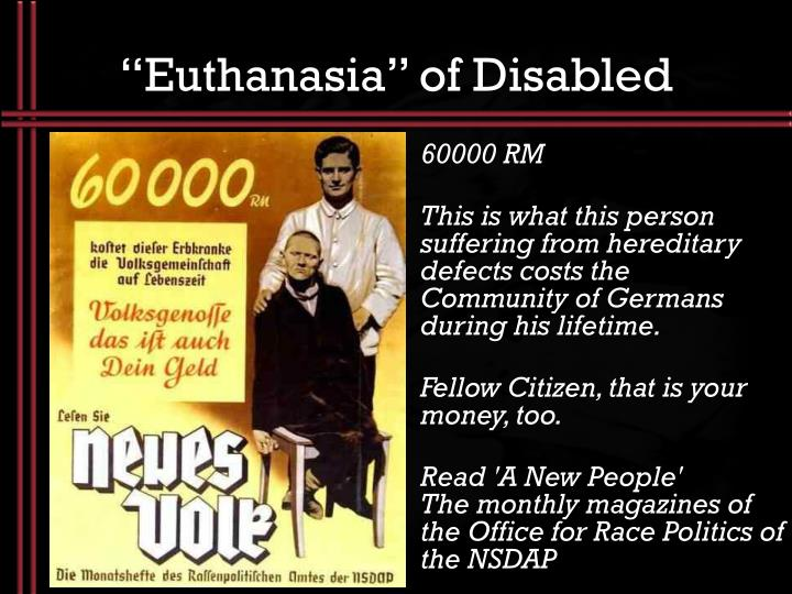 """Euthanasia"" of Disabled"