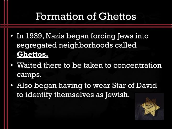 Formation of Ghettos