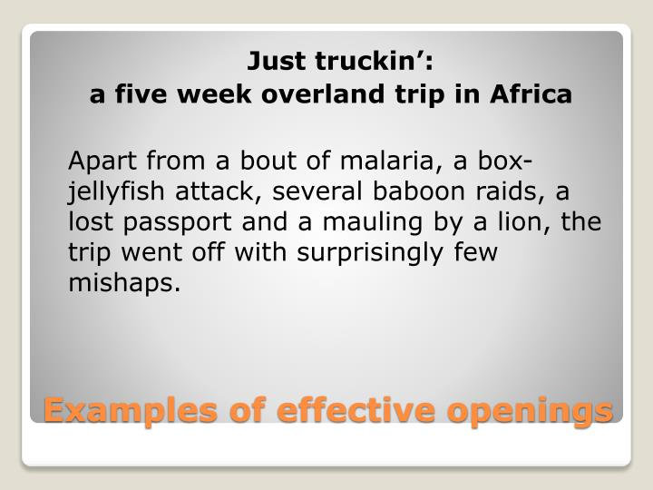 Just truckin':
