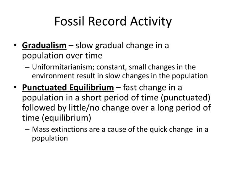 Fossil Record Activity