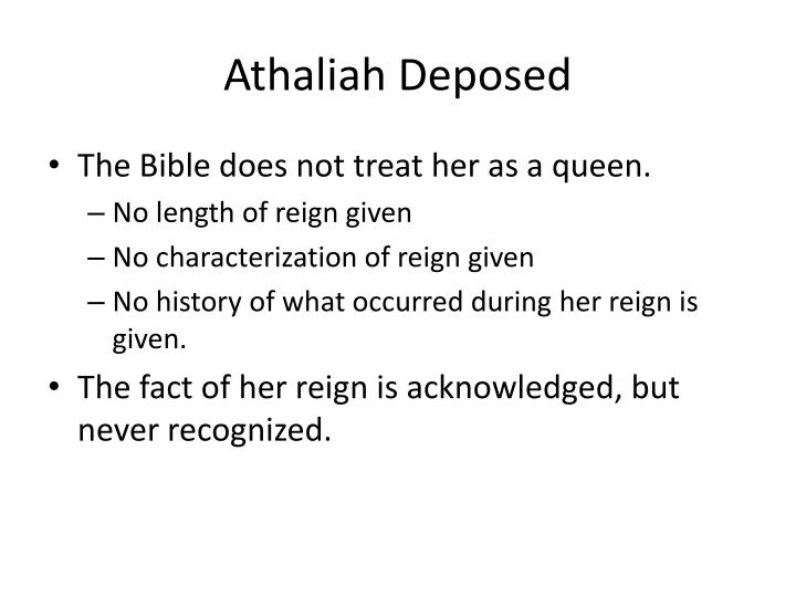 Athaliah deposed