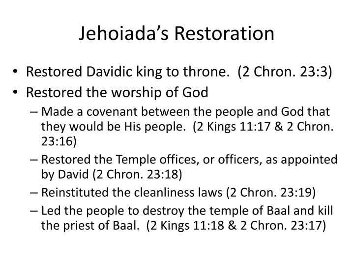Jehoiada's Restoration