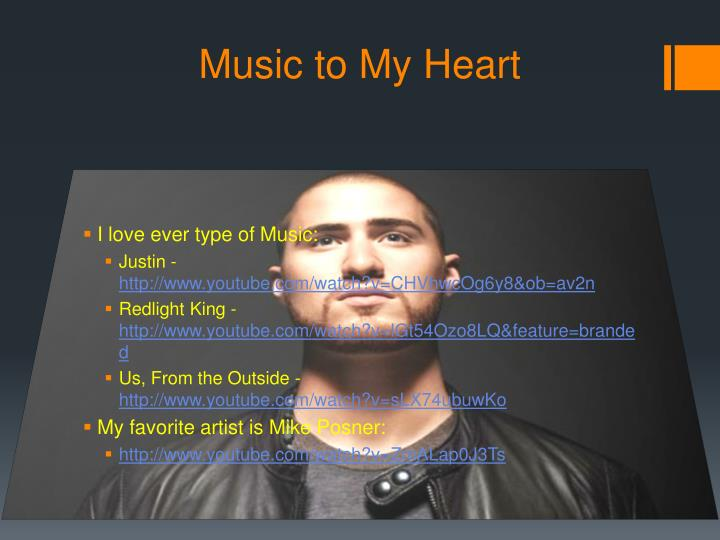 Music to My Heart