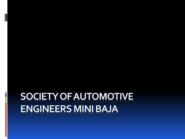 Society of Automotive Engineers Mini BAJA