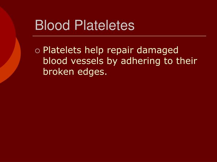 Blood Plateletes