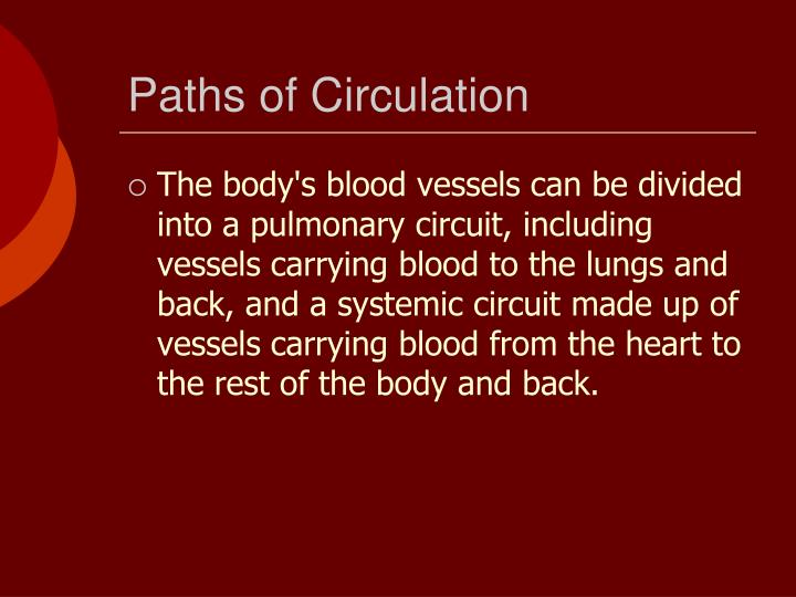 Paths of Circulation