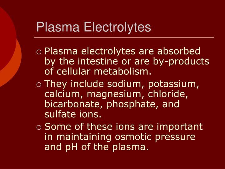 Plasma Electrolytes