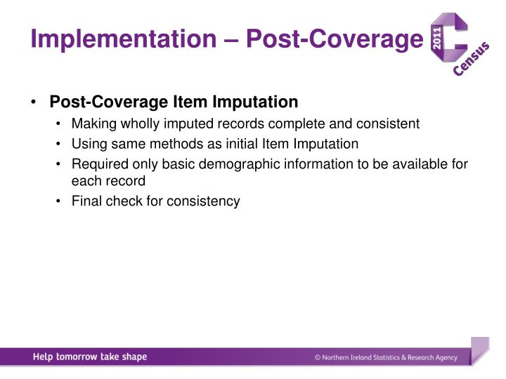Implementation – Post-Coverage