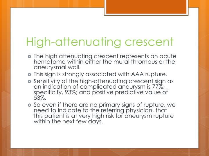 High-attenuating crescent